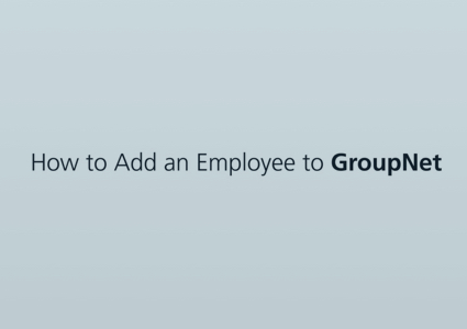 "A blank screen reading ""How to add an employee to GroupNet"""