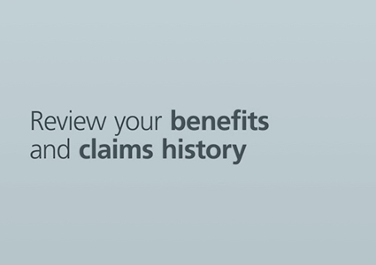 How to review your benefits and claims history