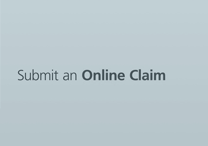 How to submit an online claim